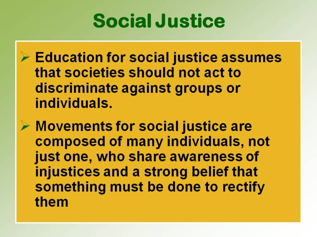 "A good, comprehensive definition of ""social justice""?"